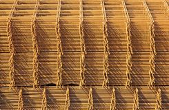 Storage of steel reinforcement Stock Image