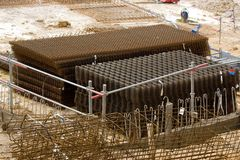 Storage of steel reinforcement bar Royalty Free Stock Image
