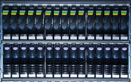Storage system in the data center Royalty Free Stock Image