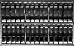 Storage system in the data center Stock Image