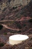 Storage Tank. With access trail- vertical Stock Image