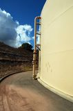 Storage Tank. And access path stock photo