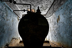 Storage tank at abandoned factory Royalty Free Stock Photos
