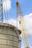 Storage tank construction Royalty Free Stock Images