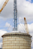 Storage tank construction Stock Images