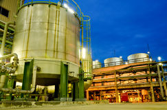 Storage tank and cooling tower Stock Image