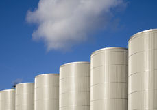 Storage tanks Stock Image