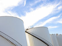 Storage tanks Royalty Free Stock Image