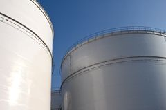 Storage tanks Royalty Free Stock Photography
