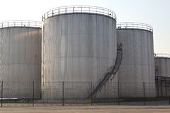 Storage tanks Royalty Free Stock Photos