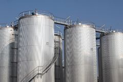 Storage tanks Stock Photo