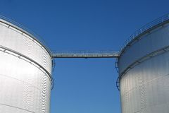 Storage tanks Royalty Free Stock Photo