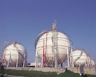Storage tanks Royalty Free Stock Images