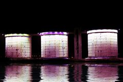Storage tanks in Amsterdam the Netherlands Royalty Free Stock Photography