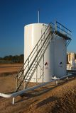 Storage Tanks with CatWalk Royalty Free Stock Photos