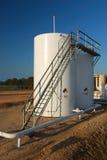 Storage Tanks with CatWalk Royalty Free Stock Photos