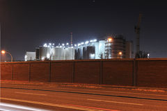 Storage tanks on the chemical plant Royalty Free Stock Photos
