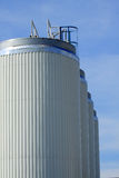 Storage tanks of a factory Royalty Free Stock Photography