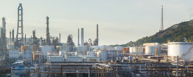 Storage tanks in a factory Royalty Free Stock Photography
