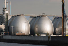 Storage tanks in Oil Depot Stock Photo