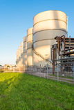 Storage tanks of an oil mill Royalty Free Stock Photo