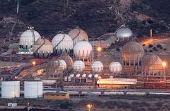 Storage tanks of an oil refinery Stock Photography