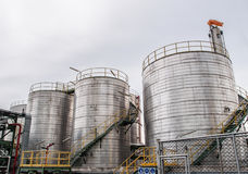 Storage tanks in oil refinery 2 Stock Photography