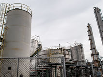 Storage tanks in oil refinery 4 Stock Photos