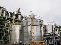 Storage tanks in oil refinery 3 Stock Image