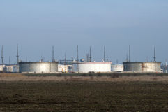 Storage tanks of petroleum products Stock Photography