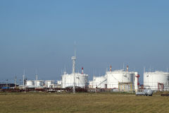 Storage tanks for petroleum products Royalty Free Stock Images
