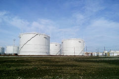 Storage tanks for petroleum products Royalty Free Stock Image