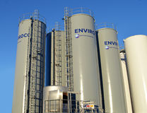 Storage tanks run by Enviroco for drilling mud waste: Aberdeen Royalty Free Stock Image
