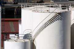 Storage tanks with stairs Stock Image