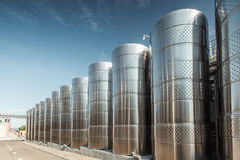Storage tanks for wine Royalty Free Stock Image