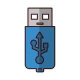 Storage technology d'USB illustration de vecteur