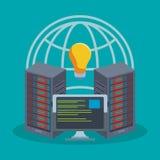 Storage technology de base de données illustration de vecteur