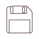 Storage technology de disquette illustration stock