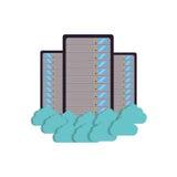 storage technology de serveur de centre de traitement des données de nuage illustration libre de droits