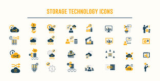 Storage technology icons vector Stock Images