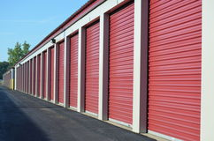 Storage unit doors stock photography
