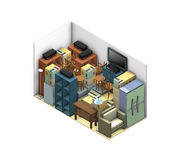 Storage unit. Illustration, Storage objects and equipment, on a white background Royalty Free Stock Image