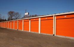 Storage units stock image