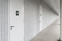 Storage units corridor Royalty Free Stock Photos