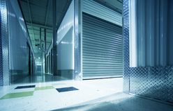Storage Units Hallway. Inside Storage Facility Royalty Free Stock Image
