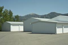 Storage Units. At a local storage rental company Royalty Free Stock Photo