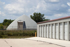 Storage Units And Salt Building Royalty Free Stock Images