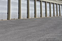 Storage Units with Sliding Doors Royalty Free Stock Photography