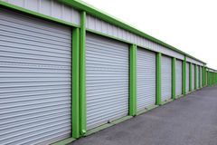 Storage Units with Sliding Doors Stock Images