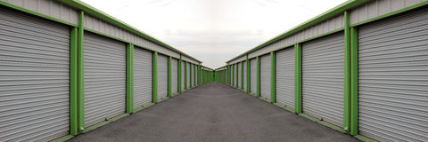 Storage Units with Sliding Doors Royalty Free Stock Images
